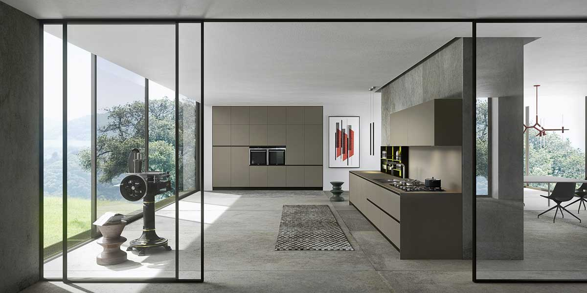 Cucina finitura fenix ntm grigio - Copat life cucine ...